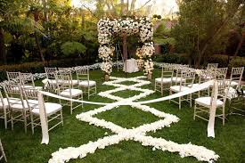 flower petal designs for the wedding ceremony aisle inside weddings