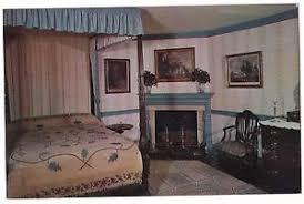 blue bedroom mount vernon virginia postcard va george washington