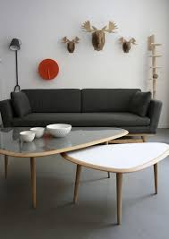 Large Coffee Table by Scandinavian Design Coffee Table Oak Lacquered Wood