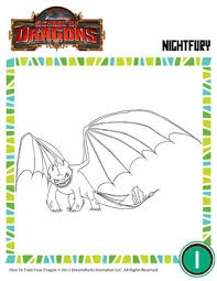 color night fury 4 dragons coloring page of dragons