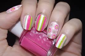 stripes and polka dots nail art nail lacquer uk
