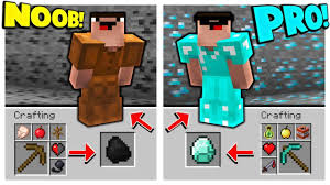 how to go from noob to minecraft pro in seconds youtube