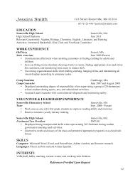 resume exles for high students skills checklist teenlife guide to writing resumes