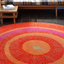Outdoor Rug Square by Contemporary Patio Decoration With Circular Orange Yellow Pink