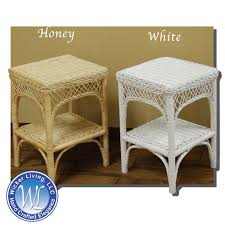 rattan side table outdoor wicker end table indoor square wicker end table within rattan end