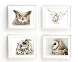 The Owl Barn Gift Collection Owl Art Etsy