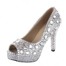 velcans com velcans luxurious sparkly silver rhinestone and peep