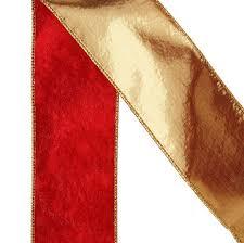 sided burgundy and gold velvet wired ribbon ribbon
