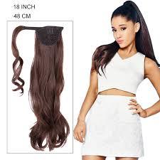 18 inch extensions 18 inch sleek hair black hair ponytail wave clip