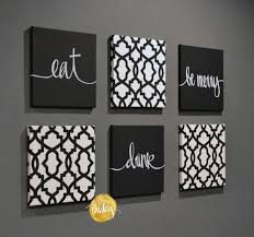 black and white trellis 6 pack wall art