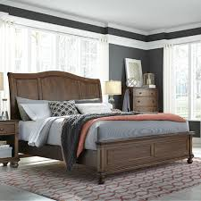 austin sleigh bed whiskey brown american home furniture store