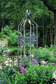 steel garden obelisks forged steel and copper garden obelisk