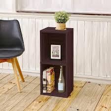 Narrow Storage Shelves by 2 Shelf Narrow Bookcase In Espresso Formaldehyde Free Way Basics