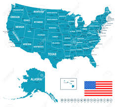 Delaware Map Usa by United States Usa Map Flag And Navigation Labels Illustration