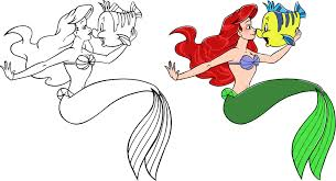 Ariel Coloring Page By Sweetlulli On Deviantart Ariel Color Page