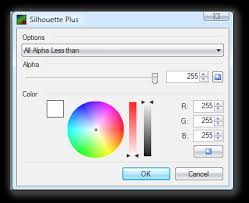 silhouette plus fill canvas with color and maintain alpha
