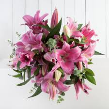 Lily Bouquet Pink Lily Bouquet Fabulous Flowers