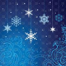 blue festive winter background snowflakes and ornament royalty