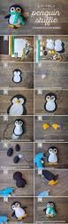 winter penguin felt stuffie lia griffith