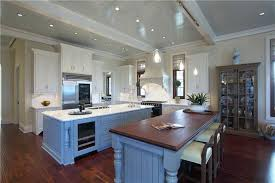 White Kitchens With Islands by 25 Blue And White Kitchens Design Ideas Designing Idea