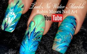 robin moses nail art marble nails with no water needed no water