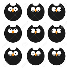 Halloween Owl Clip Art by Set Of Icons Owls Royalty Free Cliparts Vectors And Stock
