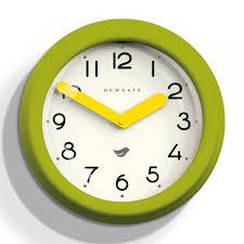 newgate putney clock overcoat grey designer metal wall clock