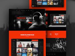 free music player app website template free psd at freepsd cc