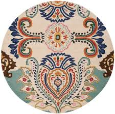 Cream Round Rug by Rug Bel118a Bella Area Rugs By Safavieh