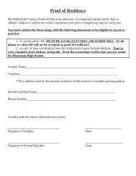 2017 proof of residency letter fillable printable pdf u0026 forms