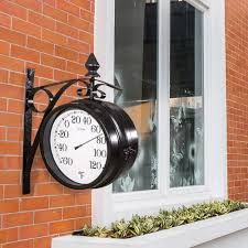 Patio Clock And Thermometer Sets by La Crosse 104 730 8
