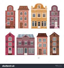 wholesale home decor online house facade stock photos images pictures shutterstock vector set