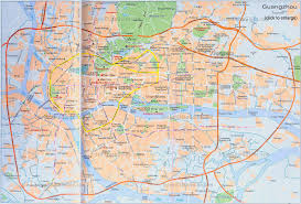 Chinese Map Guangzhou Travel China Canton City Map Transportation