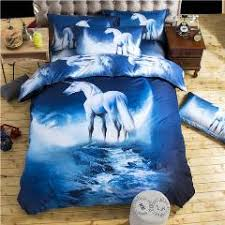 3d galaxy bedding sets twin queen size bedclothes bed linen horse