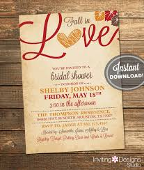 Make Your Own Bridal Shower Invitations Fall In Love Bridal Shower Invitations Marialonghi Com