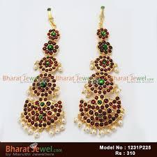 kempu earrings kempu stones matel earrings set bharatanatyam jewellery online