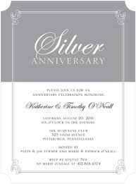 sle wedding reception program gray and white silver themed anniversary formal party invitations