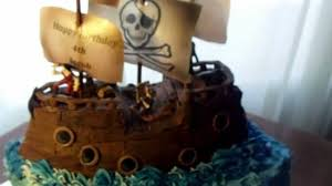 pirates ship cake with jolly roger youtube