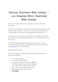 Startup Business Web Design Los Angeles Micro Business Web