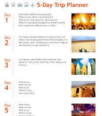 travel itinerary template template haven