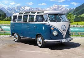 volkswagen bus 1970 amazon com revell revell07009 27 2cm volkswagen t1