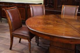 Leather Chairs Solid Walnut Leather Upholstered Dining Chairs With Brass Nails