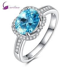 engagement rings with blue stones austrian bijoux silver ring blue