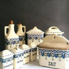 blue kitchen canister ceramic kitchen canisters sets designs foter pottery neriumgb