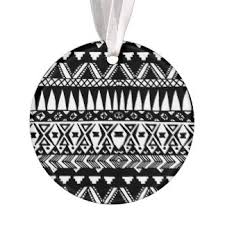 black white aztec pattern ornaments keepsake ornaments zazzle