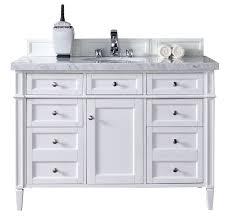 contemporary 48 inch single bathroom vanity white finish no top