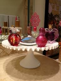 perfume watch jewelry tray could get a tall cake stand and put