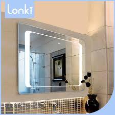 2017 modern illuminated led light bathroom mirror with low price