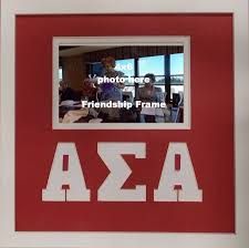 sorority picture frame alpha sigma alpha sorority friendship frame holds 4x6 photo wall