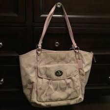 bag with light inside light pink canvas coach bag coach bags coach purse and shoulder bags
